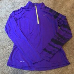 Nike dri-fit quarter zip long sleeve